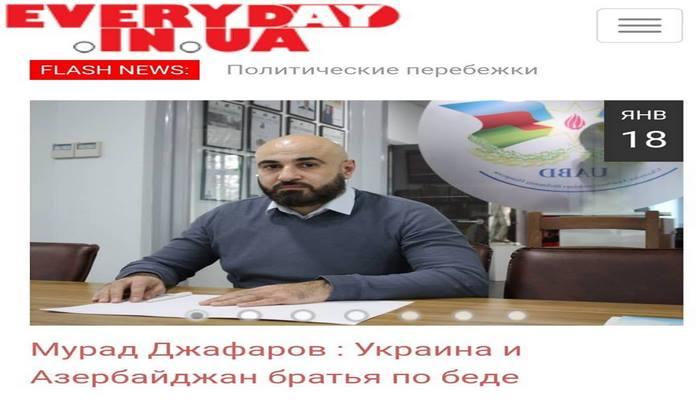 Ukrayna mətbuatında 20 Yanvar faciəsi ilə bağlı yazılar dərc olunub