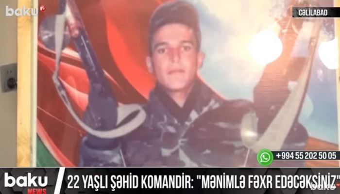 22 yaşlı şəhid komandir Səyadulla Əhmədov