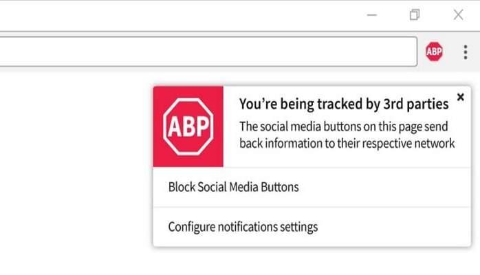 Благодаря Adblock Plus соцсети не смогут отслеживать действия пользователей