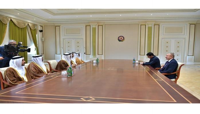 Президент Ильхам Алиев принял делегацию во главе с государственным министром по иностранным делам ОАЭ