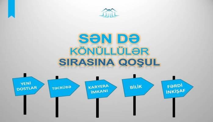 """""""Könüllü ol"""" layihəsində iştirak edən 110 gənc Əmlak Məsələləri Dövlət Komitəsində işlə təmin edilib"""