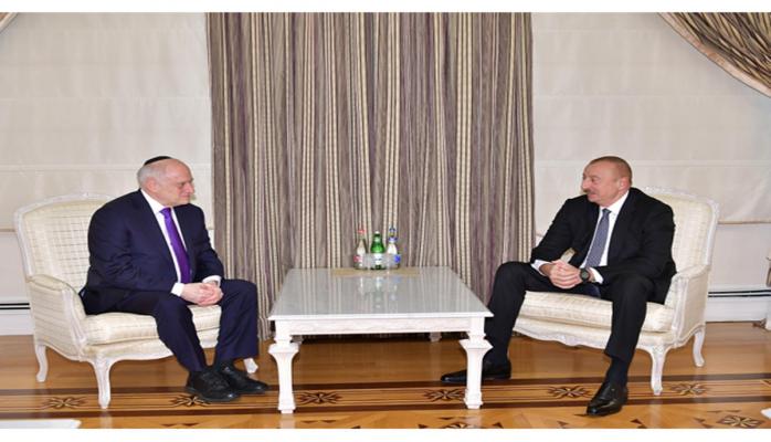 Президент Ильхам Алиев принял заместителя исполнительного председателя Конференции президентов еврейских организаций Америки