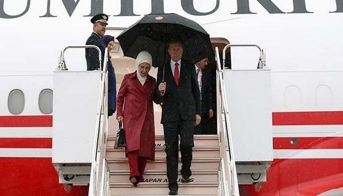 Cumhurbaşkanı Erdoğan Japonya'dan Çin'e geçti