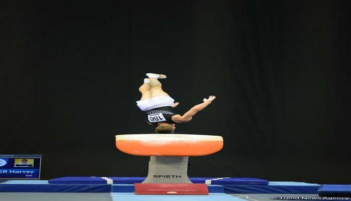 В Баку определились финалисты Кубка мира по спортивной гимнастике в опорном прыжке