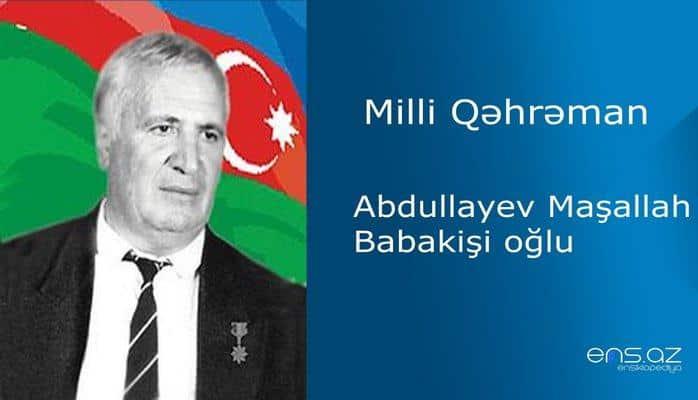 Maşallah Abdullayev Babakişi oğlu