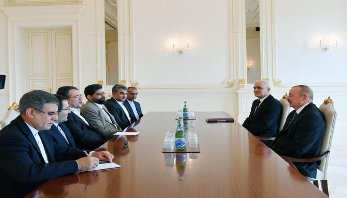 Prezident İlham Əliyev İranın sənaye, mədən və ticarət nazirini qəbul edib
