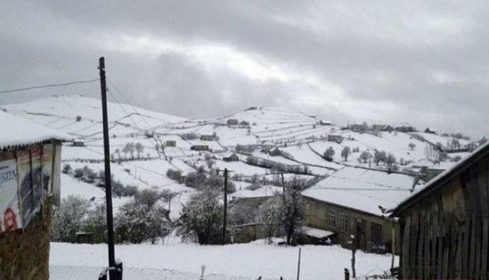 Снегопад в регионах Азербайджана
