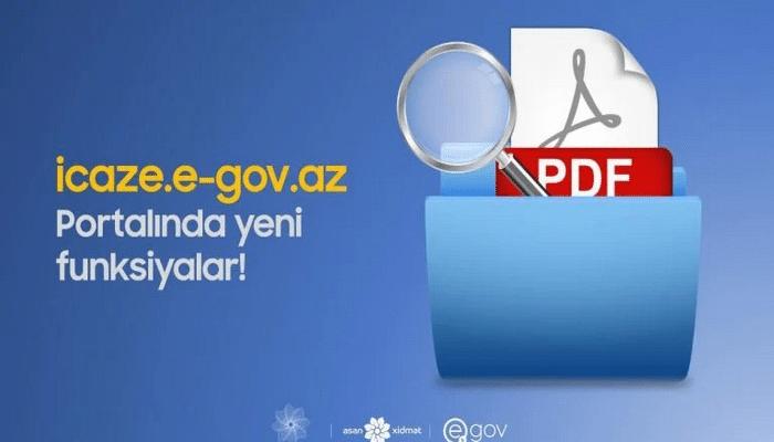 İcaze.e-gov.az portalında yeni funksiyalar yaradıldı
