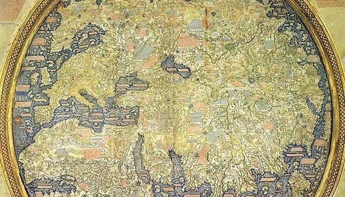 Баку, Карабах, Шемаха на венецианской карте монаха-картографа Фра-Мауро 1459 г.