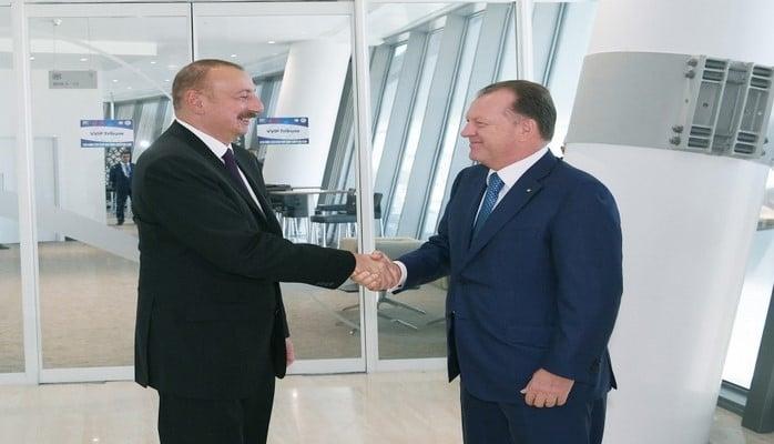 Президент Ильхам Алиев встретился с президентом Международной федерации дзюдо Мариусом Визером