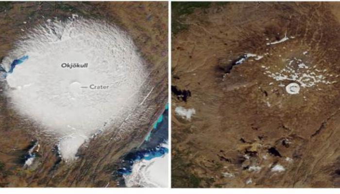 NASA 30 ildə İslandiyanın böyük buzlağının necə əridiyini göstərib