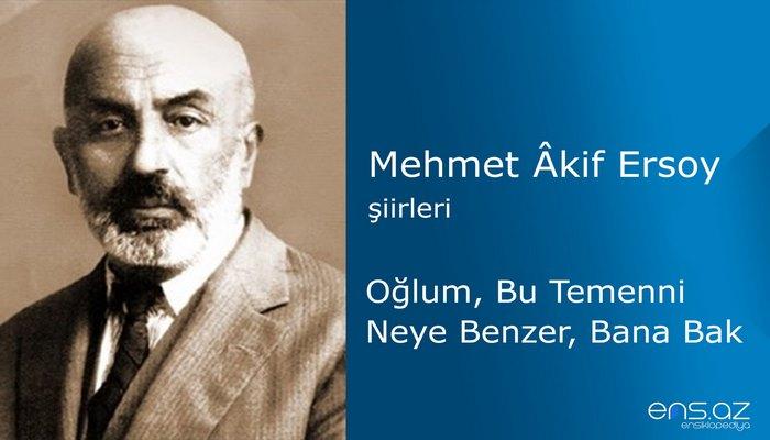 Mehmet Akif Ersoy - Oğlum, Bu Temenni Neye Benzer, Bana Bak