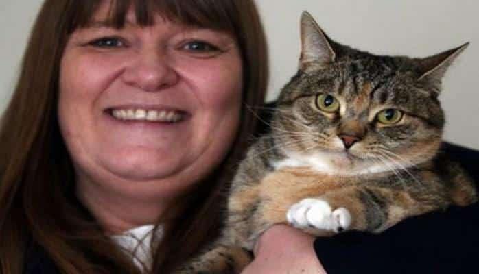 Кошка спасла хозяйку от рака