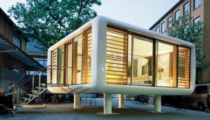 Kosmik stildə mini evlər