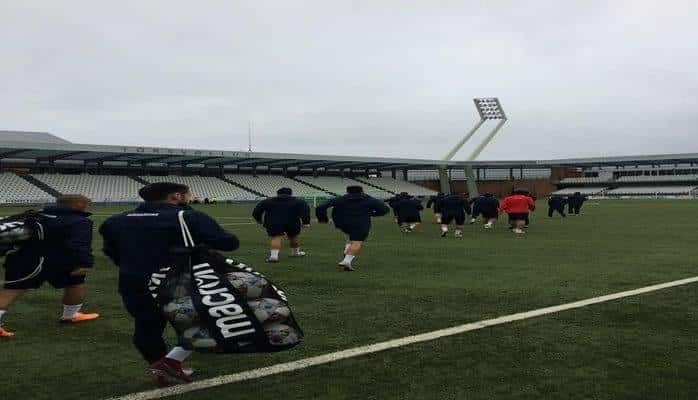 Сборная Азербайджана вышла на тренировку перед матчем с Фарерскими островами