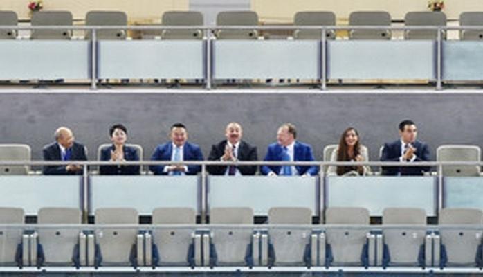 Президент Ильхам Алиев посмотрел финальную встречу чемпионата мира по дзюдо