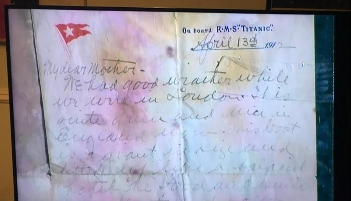 """""""Titanik""""də yazılan məktub rekord qiymətə satıldı"""