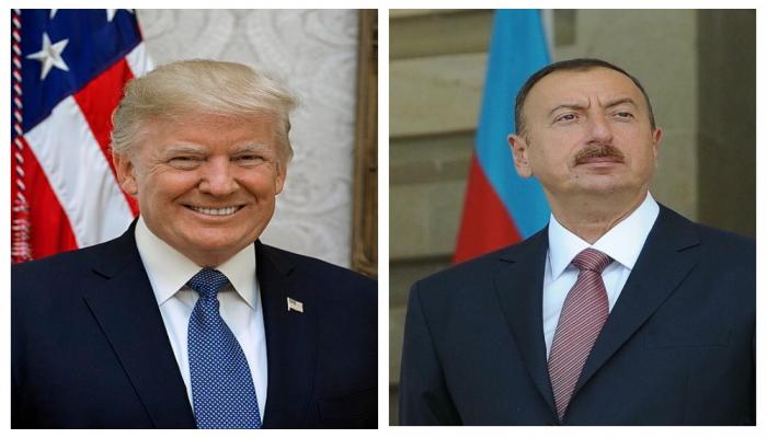 Tramp İlham Əliyevi təbrik etdi