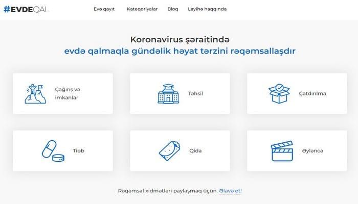Начал функционировать сайт evdeqal.az