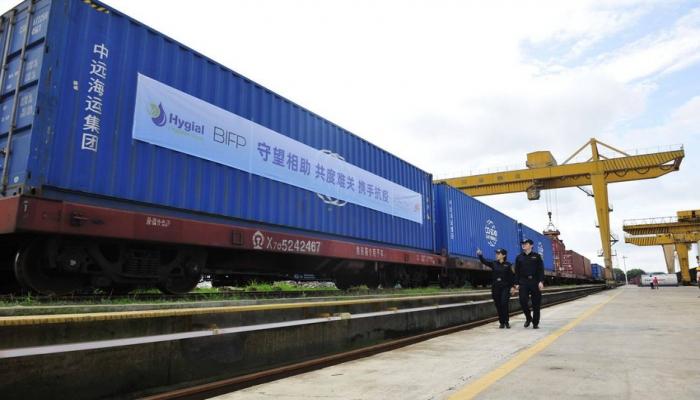 Китай отправил в Азербайджан новый грузовой поезд