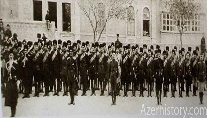 Возникновение Азербайджанской национальной армии