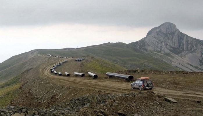 TAP-ın Albaniya hissəsinin tikintisi dəniz səviyyəsindən 2100 metr yüksəklikdə aparılır