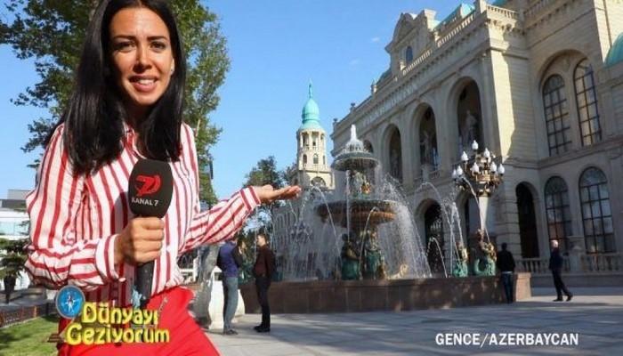 """Türkiyənin """"Kanal 7"""" televiziyası Gəncə şəhərindən geniş reportaj hazırlayıb"""