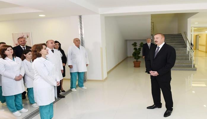Ильхам Алиев: В Азербайджане не останется ни одного города без самой современной больницы