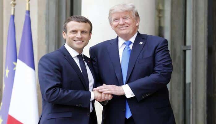 Макрон проводит двустороннюю встречу с Трампом