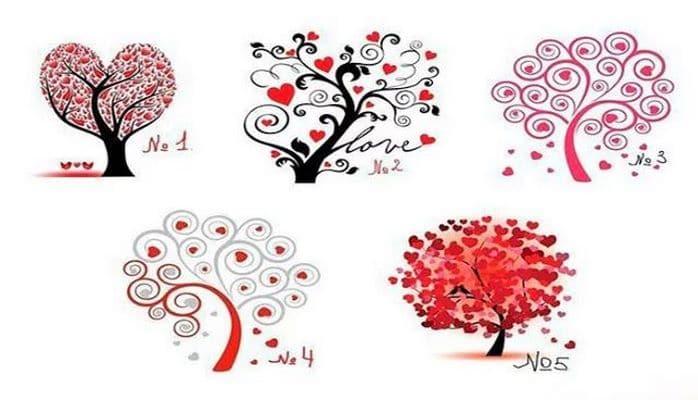 Sevgi ağacı. Ağaclardan birini seçin və nəticəyə baxın.