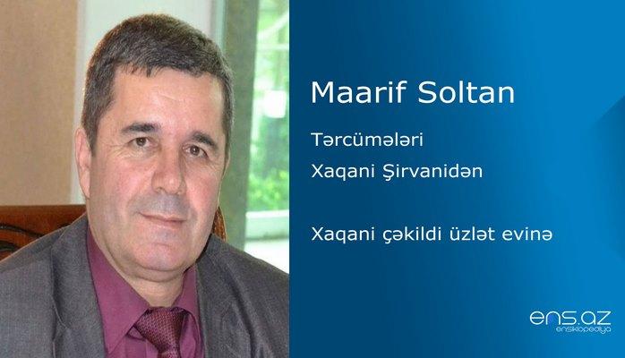 Maarif Soltan - Xaqani çəkildi üzlət evinə
