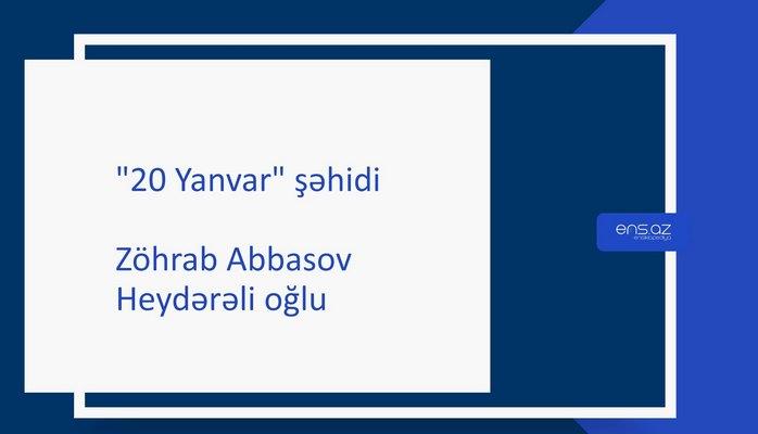 Abbasov Zöhrab Heydərəli oğlu
