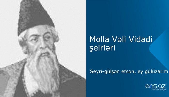 Molla Vəli Vidadi - Seyri-gülşən etsən, gülüzarım