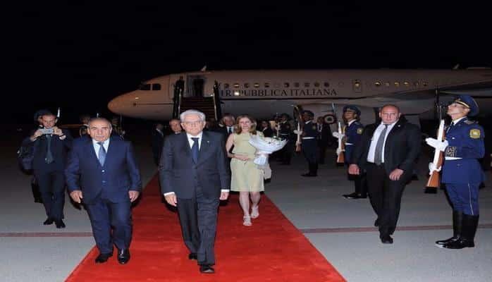 İtaliya Prezidenti Sercio Mattarella Azərbaycana rəsmi səfərə gəlib