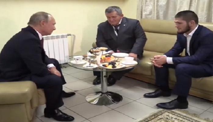 Путин: «Хабиб, мы все можем прыгнуть так, что мало не покажется...»