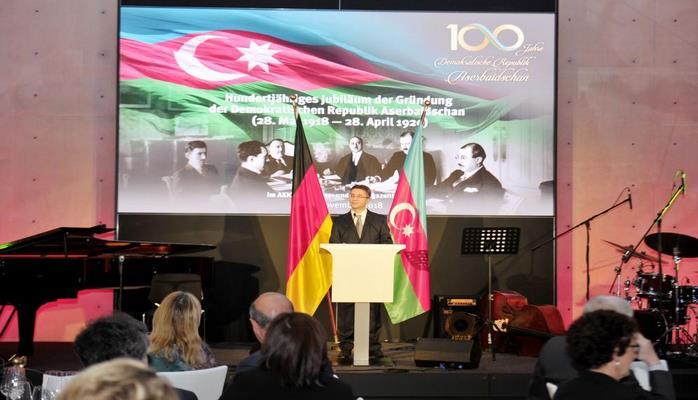 При организации Фонда Гейдара Алиева в Берлине прошло мероприятие, посвященное 100-летию АДР
