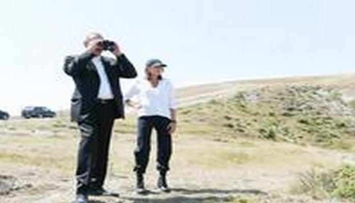 Prezident İlham Əliyev və birinci xanım Mehriban Əliyeva Şamaxı Safari Parkında olublar