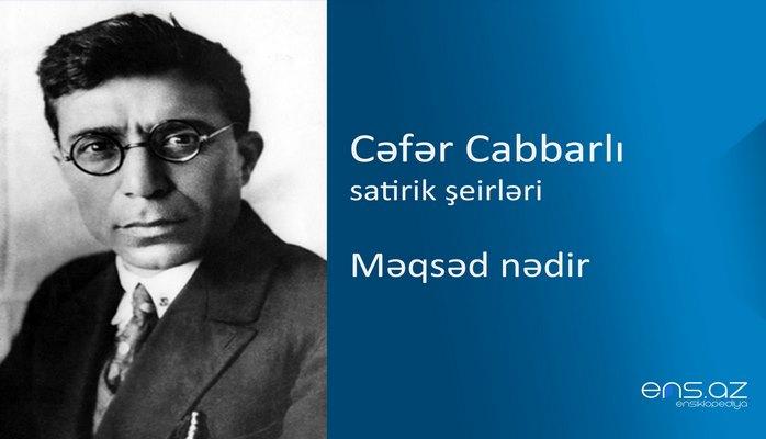 Cəfər Cabbarlı - Məqsəd nədir