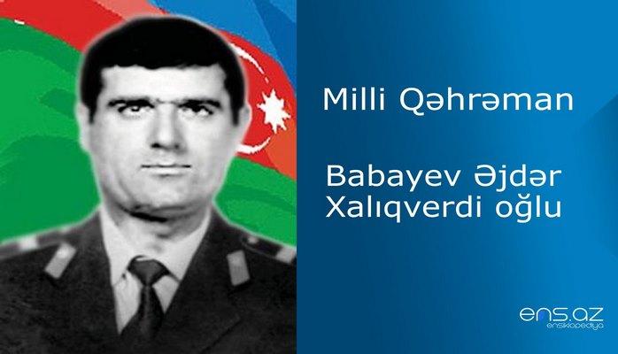 Əjdər Babayev Xalıqverdi oğlu