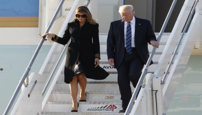 Трамп прибывает с первым визитом в Индию