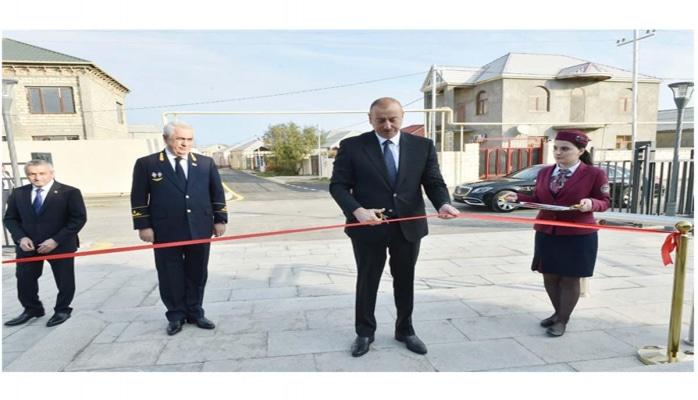 Президент Ильхам Алиев принял участие в открытии после реконструкции линии Сабунчи-Пиршаги Бакинской кольцевой железной дороги (ФОТО) (версия 5)