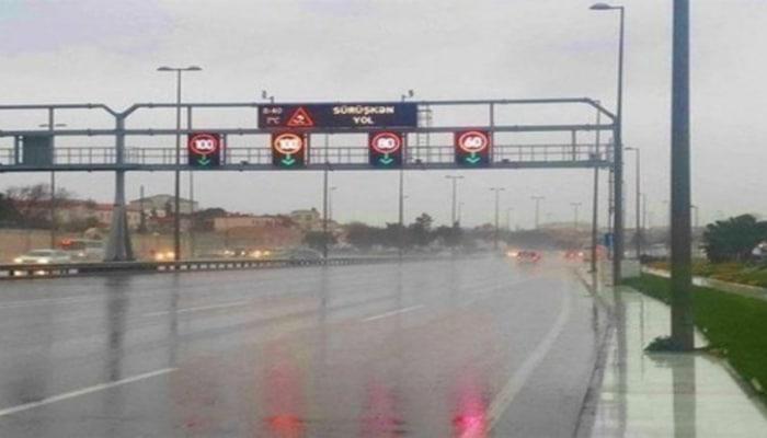 На некоторых автомагистралях Баку снижена скорость движения