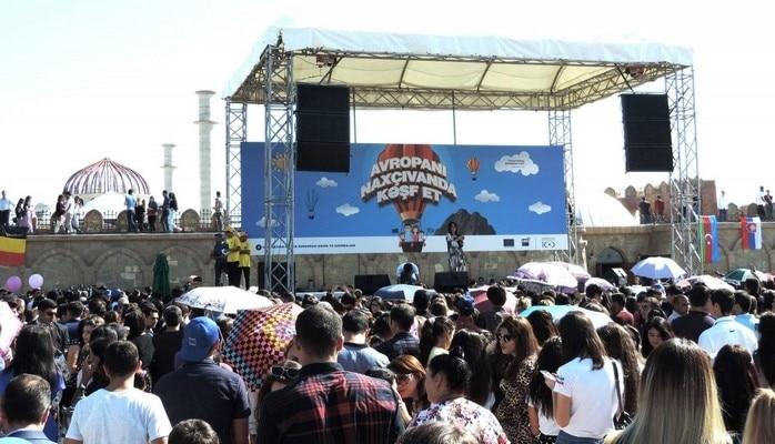 В Нахчыване состоялась церемония официального открытия «Европейского городка»