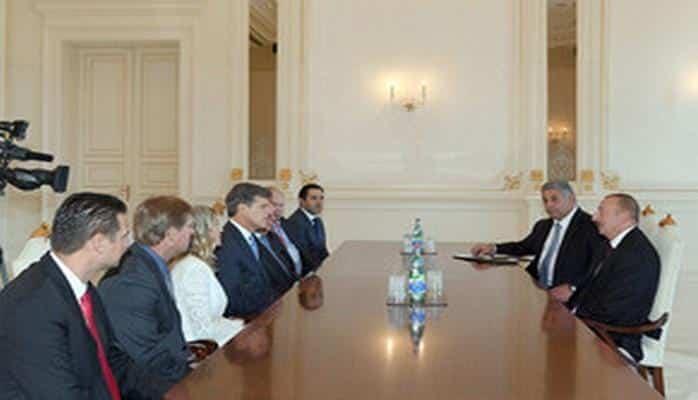 Президент Ильхам Алиев принял делегацию во главе с председателем Специального олимпийского комитета