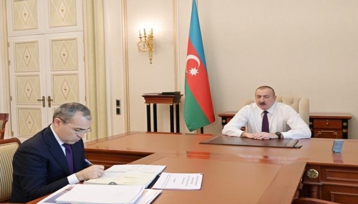 Prezident İlham Əliyev İqtisadiyyat nazirini qəbul etdi