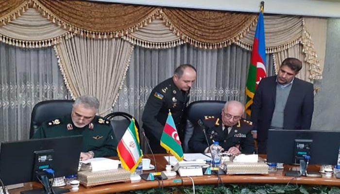 Военная делегация Азербайджана находится с визитом в Иране