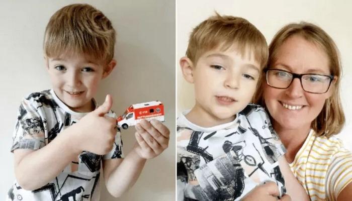 5 yaşındaki çocuk oyuncak ambulansı sayesinde annesinin hayatını kurtardı