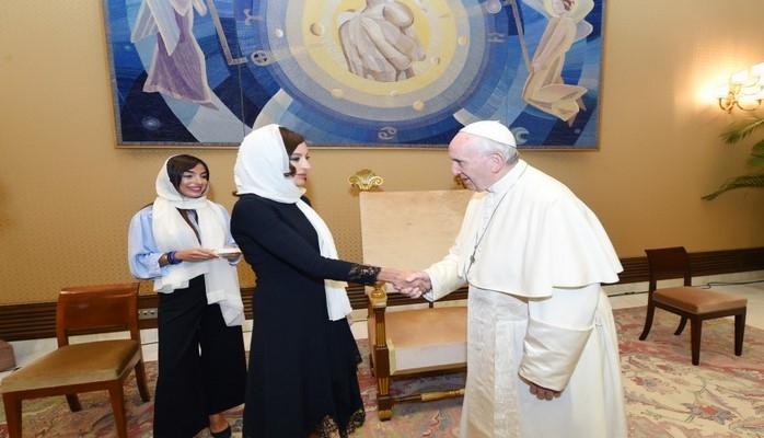 Первый вице-президент Азербайджана Мехрибан Алиева встретилась с Папой Римским Франциском