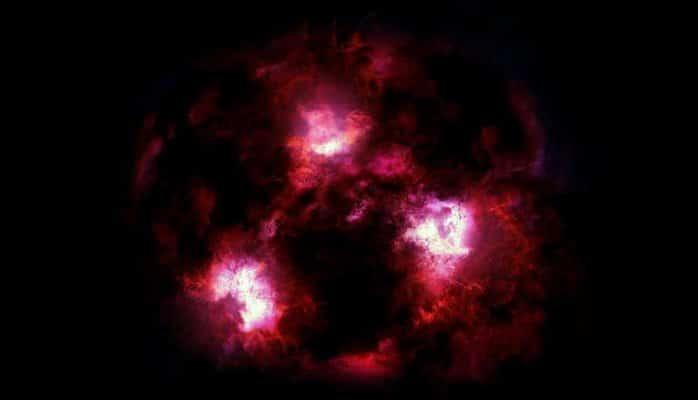 Астрономы нашли чудовищную галактику возрастом 12,5 миллиарда лет