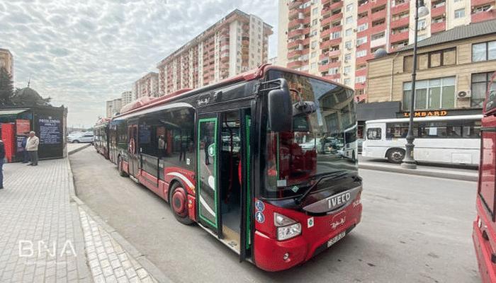 Bakıda üç avtobusun hərəkət sxemində dəyişiklik edildi